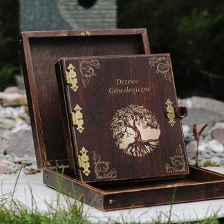 album drewniany genealogia