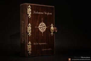 albumy drewniane podróże