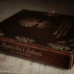 album drewniany ślub